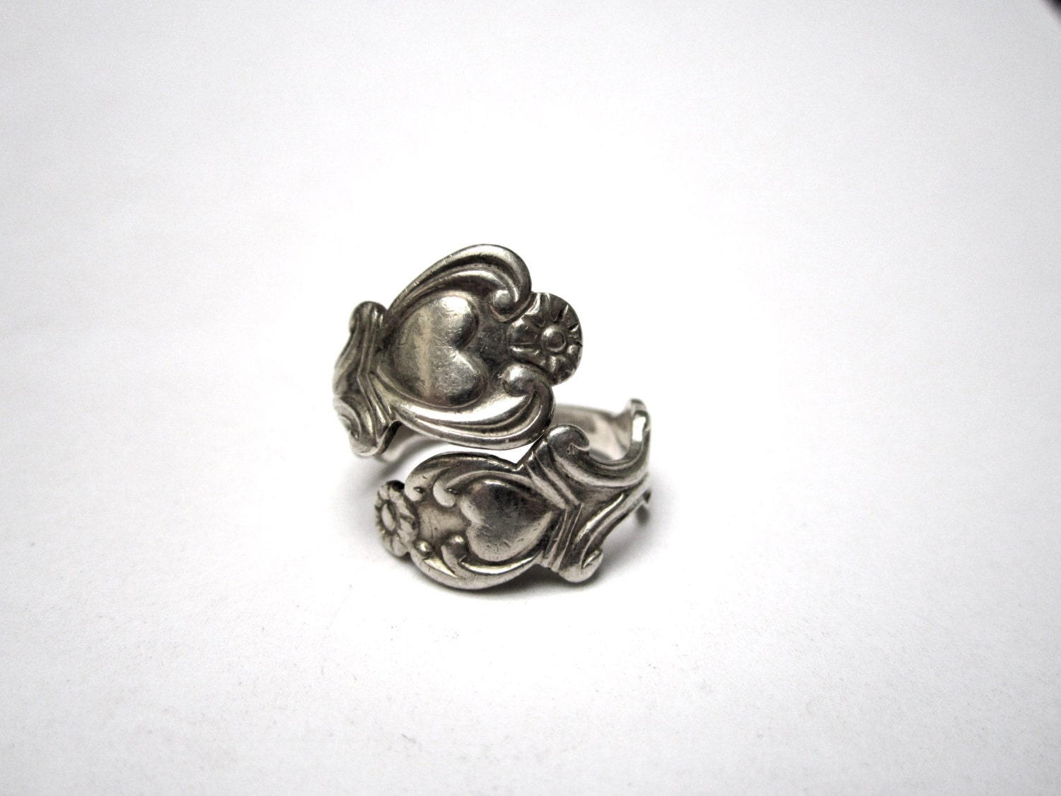 Vintage Sterling Silver Avon Spoon Ring Size 7