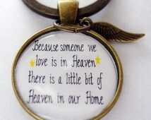 Handmade Heaven Antique Bronze Key Chain or 24 inch Necklace