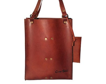 Double Wine Tote- Chestnut