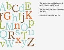 Alphabet Wall Decal, Nursery Wall Decal, Alphabet Wall art, alphabet decal, Wonderwall Design