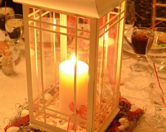 Seashell Beach Lantern Centerpieces
