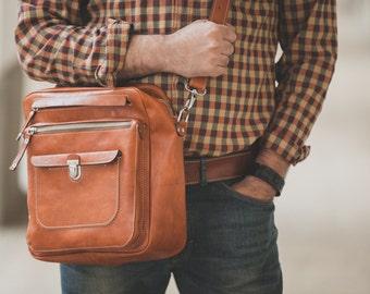 James B Overnight travel bag in Full Grain Vachetta Tan Leather Bag,  travel Bag, Business overnight bag, travel bag