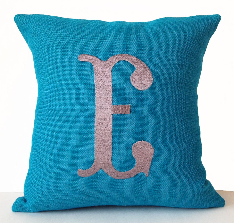 Monogram A Pillow: Burlap Pillow Covers Monogram Pillows Custom Pillow Cases