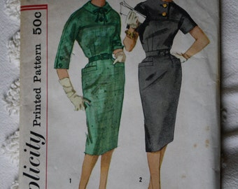 1950s Simplicity 3152 pattern for dress size 14