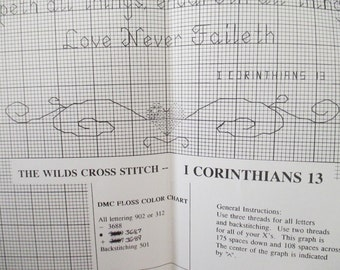 I Corinthians 13 Cross Stitch Pattern -from The Wilds Cross Stitch