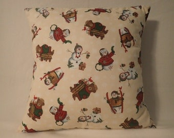 Pillow Cover, Decorative Holiday Pillow Cover, Christmas Pillow Cover, Christmas Decor, Holiday Decor, 18 x 18 Pillow Cover, Winter Pillow
