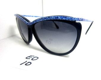 Elegant Optical Vintage 1980s Blue/Black Sunglasses MA8 Lady (EO-10)
