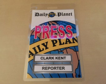 Items similar to Daily Planet Clark Kent Reporter ID ...