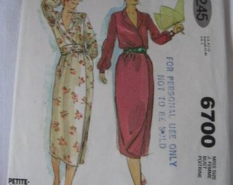 ONE WEEK PATTERNSALE   -    McCalls 6700 Sewing Pattern