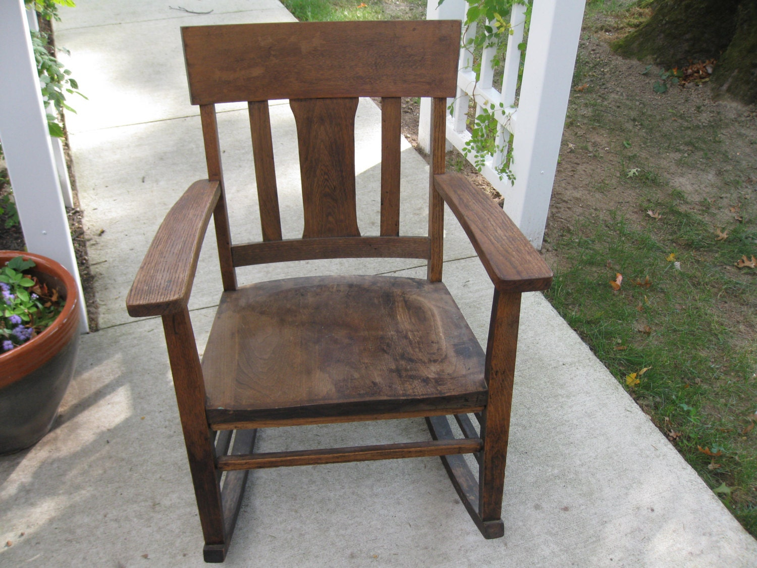 MURPHY CHAIR COMPANY No. 9673 Late 1800u0027s To Early 1900u0027s Oak Rocking Chair Mission Oak Style Local Pick Up Due To Size & MURPHY CHAIR COMPANY No. 9673 Late 1800u0027s To Early 1900u0027s Oak ...