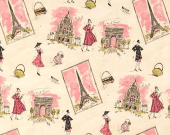 Handmade Curtain/Valance 50W x 15L in Paris Print, Home Decor