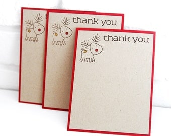 Kid\'s Christmas Thank You Cards INSTANT DOWNLOAD