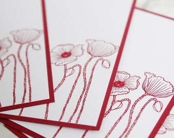 Pink Flower All Occasion Note Card Set of Ten, Thank You Cards, Floral Stationery, Greeting Card Set