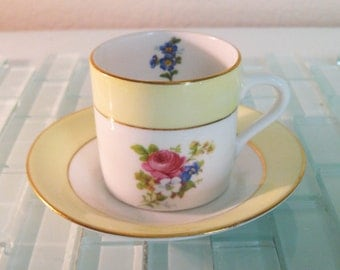 Rosina Demitasse Espresso Cup Saucer England