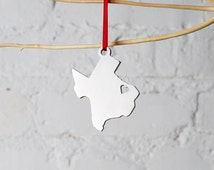 BLACK FRIDAY SALE - Christmas Tree Ornament - Texas Ornament - Stocking Stuffer, Christmas Gift