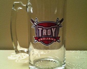 Troy Mug, Trojans, Beer Mug, Sweet Tea Mug, Glass Mug