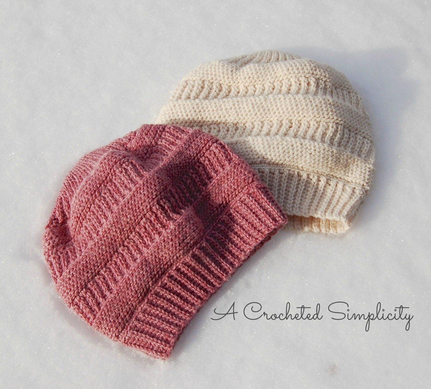Crochet Pattern: Purl Illusions Slouch Sizes