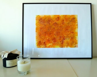 orange ocre jaune etsy. Black Bedroom Furniture Sets. Home Design Ideas