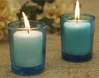 Turquoise Votive Candle Holders (Small)