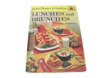 Vintage Cookbook, 1960's Better Homes and Gardens Lunches and Brunches Cookbook, Vintage Recipes, Lunch, Brunch Recipes, Old Cookbook