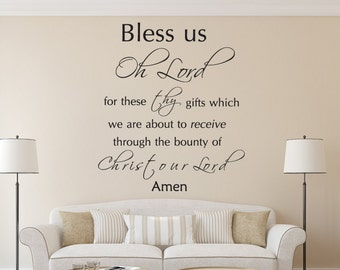 Bless Us Oh Lord.... - Bible Verse Wall Decal - Christian Wall Decal - Scripture Wall Decal
