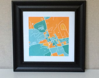 Orange VA Map Print