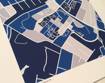 CNU Map Print