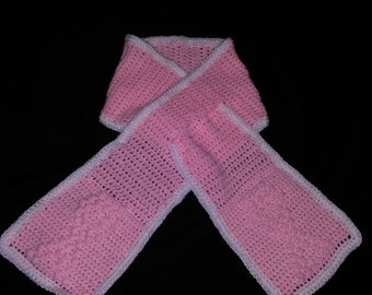 Awareness Puff Stitch Scarf
