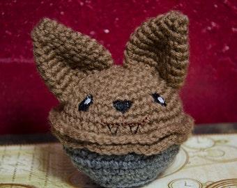 "Amigurumi Cupcake, Cuddle Cake, ""Alceed the Monster Werewolf Cupcake"""