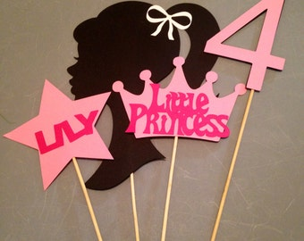 4pc Barbie themed centerpiece, Barbie birthday party, Barbie themed party