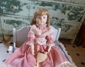 Shandelee Porcelain Doll by Meggan's Doll House