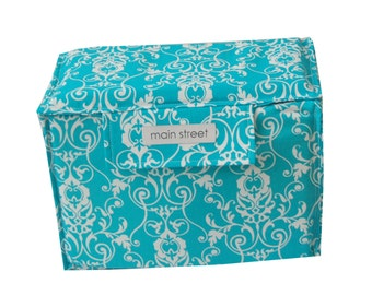 NEW Removable SMALL camera insert with TOP, teal floral padded