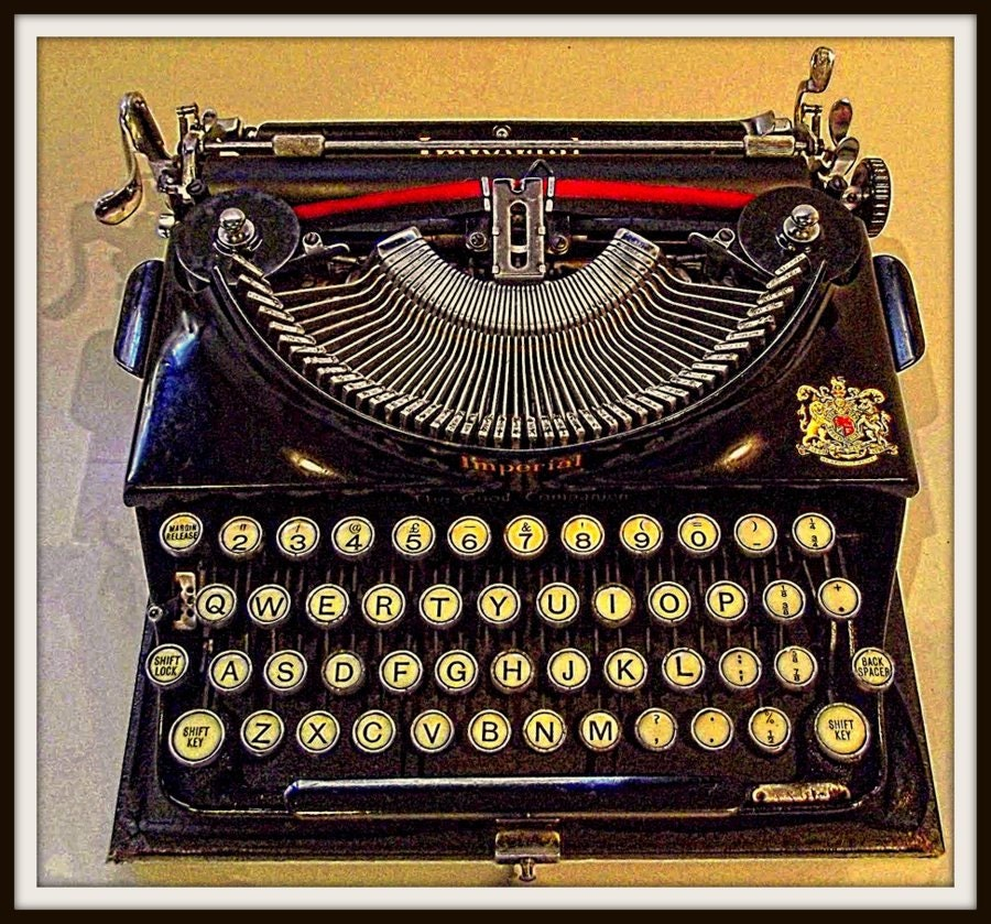 Imperial typewriter 1937 print for Imperial printing