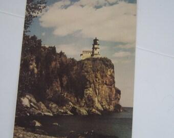 Writing Basket-Spilt Rock Lighthouse- Minnesota- Lake Superior-  Lake Superior Split Rock Lighthouse Post card-Graduation gift