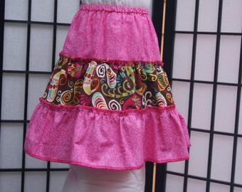 4T 3 Tier Skirt, Pink Skirt