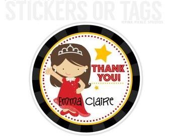 Movie Star Stickers, Favor Tags, Happy Birthday Stickers, Gift Tag, Favor Tag, Printable Favor Tags :No.501