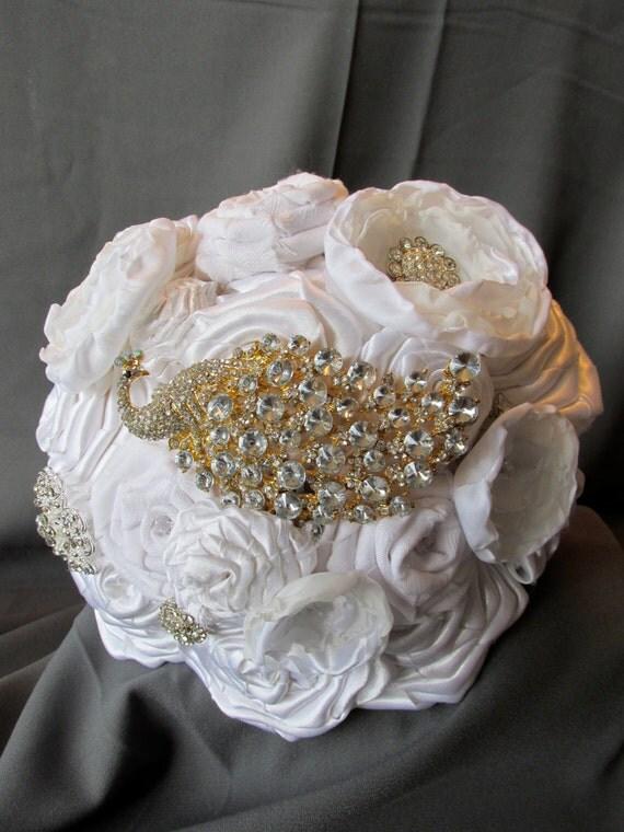 Bridal Bouquet Materials : Wedding bouquet satin voile fabric flower bridal