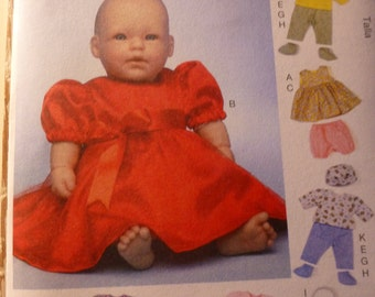 "McCall's 7066 Baby Doll Clothes pattern 11"", 12"", 15"" or 16"" dolls"