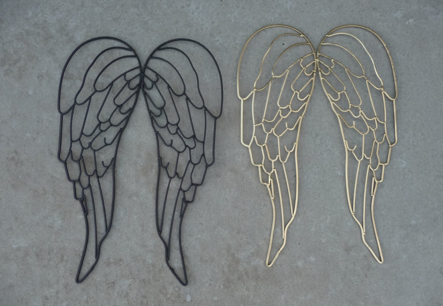 Wrought Iron Metal Angel Wings Large Wall Decor Sculpture 16 X