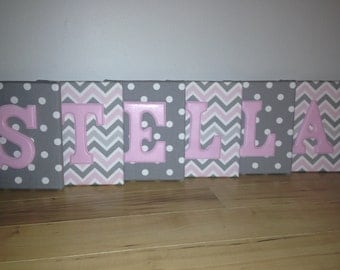Girl Wall Canvas Letters, Nursery Letters & Decor, Personalized Name