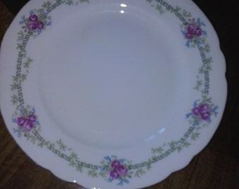 Vintage Shelley bread & butter plates, set of six