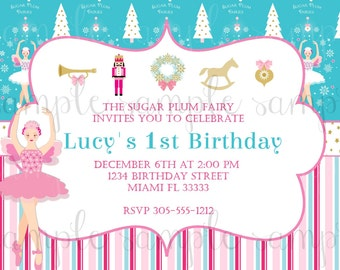 Sugar Plum Fairy Invitation
