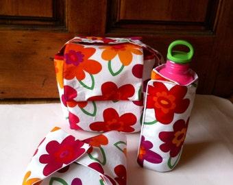 Insulated Lunch Bag Set, Lunch Bag, Bottle Wrap, Sandwich Wrap Set