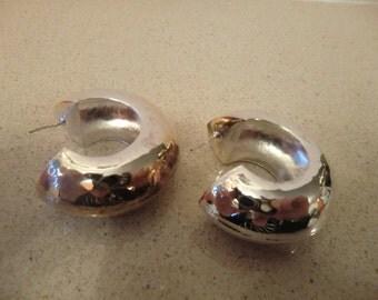 Earrings,silver, pierced, handmade, new
