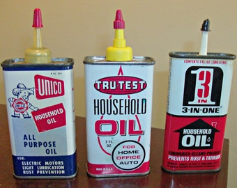 3 Vintage Household Oil Cans