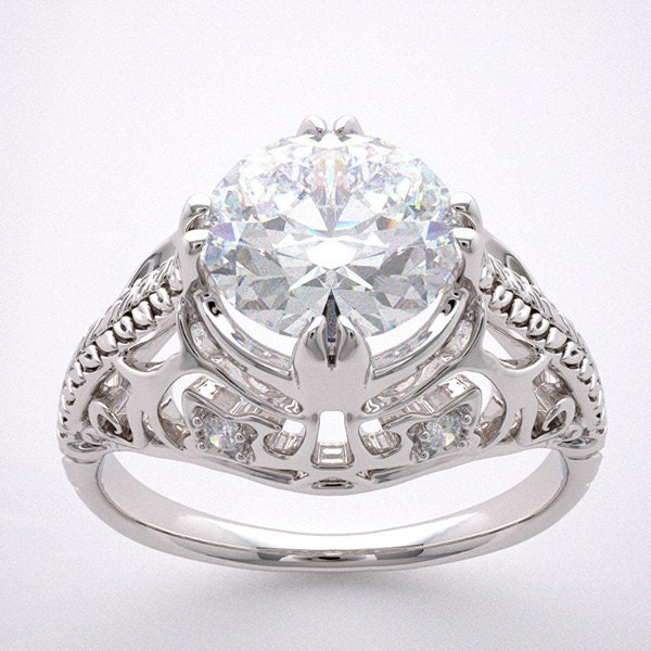 engagement ring setting antique deco by