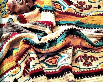 Crochet Blanket Pattern - Indian Summer Afghan