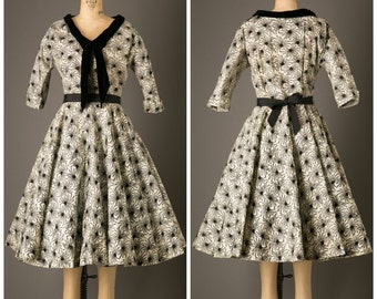 1950s Black and White New Look Dress