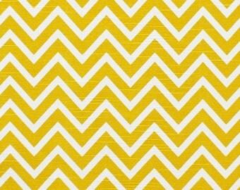Premier Prints Cosmos Corn Yellow Slub Chevron Fabric 1 Full Yard