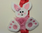Easter bunny headband with bow